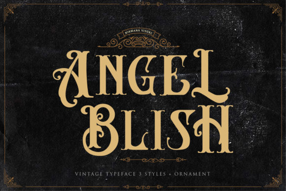 Print on Demand: Angel Blish Family Display Font By Sigit Dwipa