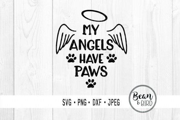 Print on Demand: Angels Have Paws Graphic Crafts By Jessica Maike - Image 1