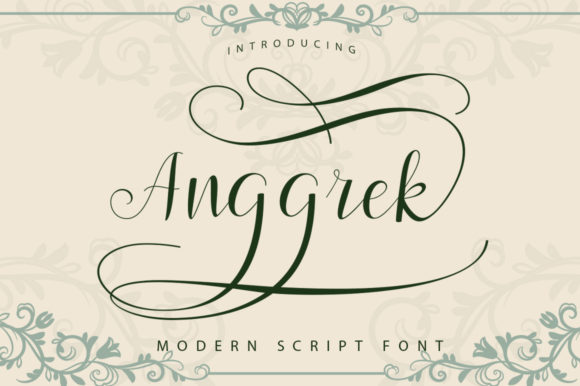 Print on Demand: Anggrek Script & Handwritten Font By Posts Type