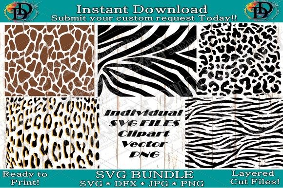 Print on Demand: Animal Print SVG Graphic Patterns By dynamicdimensions