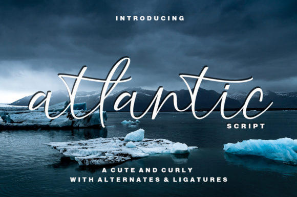 Print on Demand: Atlantic Script Script & Handwritten Font By akifatype