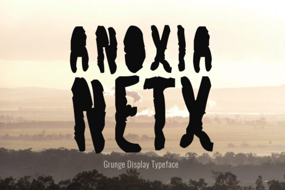 Print on Demand: Anoxia Next Display Font By Spanking Fonts