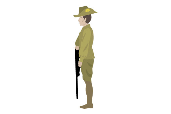 Download Free Anzac Soldier Svg Cut File By Creative Fabrica Crafts Creative SVG Cut Files
