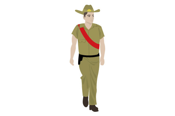Download Free Anzac Soldier Svg Cut File By Creative Fabrica Crafts Creative for Cricut Explore, Silhouette and other cutting machines.