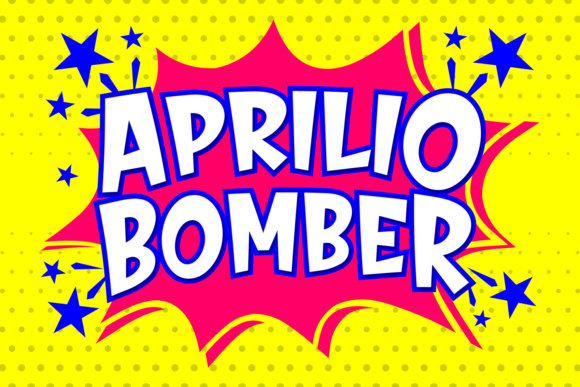 Print on Demand: Aprilio Bomber Script & Handwritten Font By Keithzo (7NTypes)