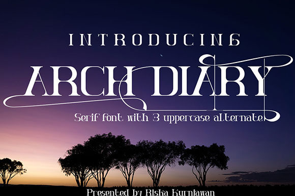 Arch Diary Serif Font By Black Lotus
