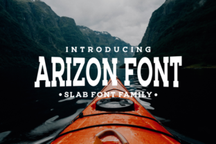 Arizon Slab Serif Font By LetterBeary