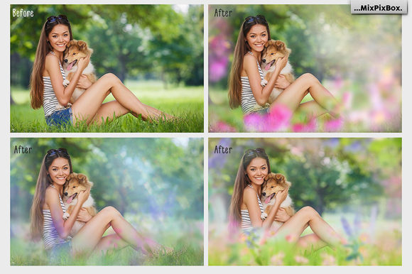 Print on Demand: Art Flowers Photo Overlays Graphic Layer Styles By MixPixBox - Image 2