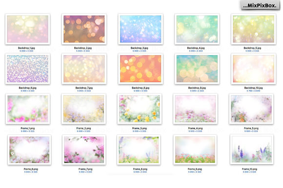Print on Demand: Art Flowers Photo Overlays Graphic Layer Styles By MixPixBox - Image 5