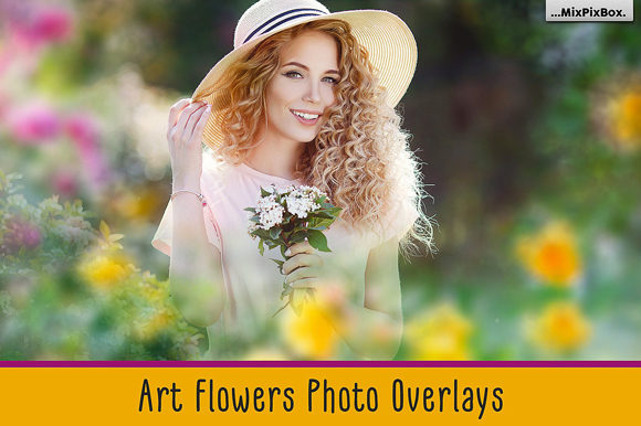 Print on Demand: Art Flowers Photo Overlays Graphic Layer Styles By MixPixBox