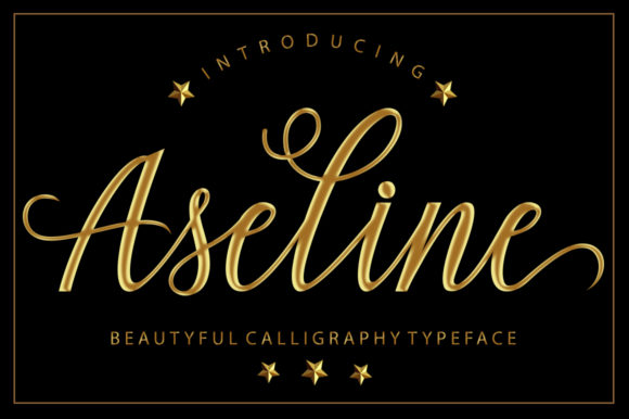 Print on Demand: Aseline Script & Handwritten Font By Musafir LAB