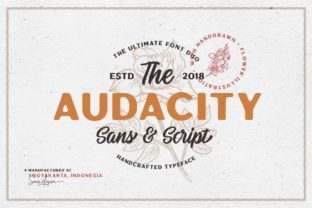 Print on Demand: Audacity Duo Sans Serif Font By saridezra