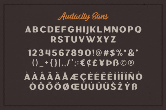 Print on Demand: Audacity Duo Sans Serif Font By saridezra - Image 5
