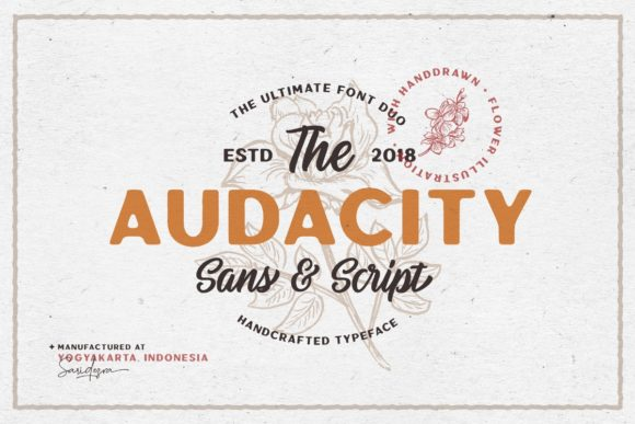 Print on Demand: Audacity Duo Sans Serif Font By saridezra - Image 1