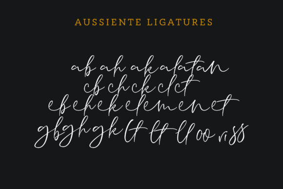 Aussiente Font By InspiraType Image 10