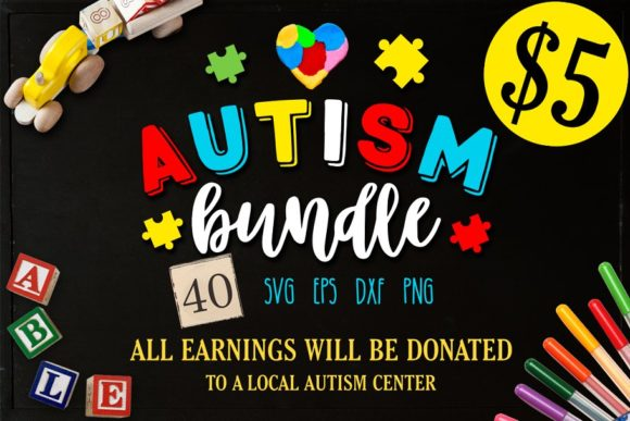 Autism Bundle Graphic Crafts By BlackCatsMedia