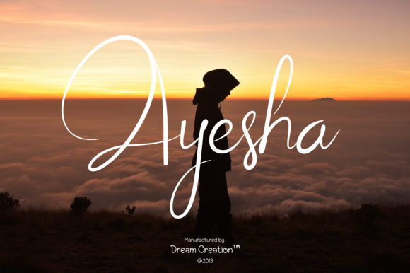 Print on Demand: Ayesha Script Script & Handwritten Font By DreamCreation