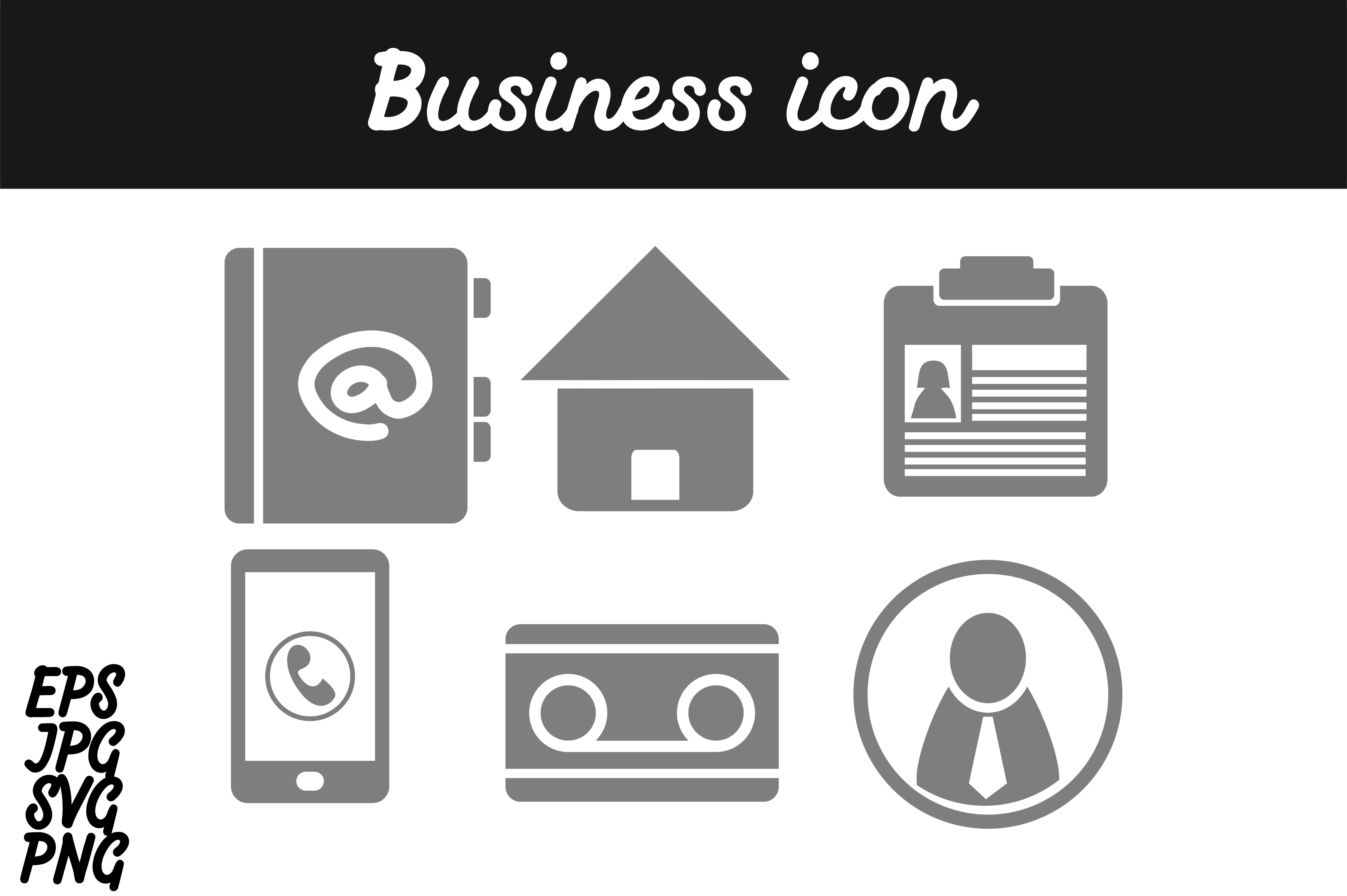 Download Free Bundle Business Icon Set Svg Vector Image Graphic By Arief Sapta for Cricut Explore, Silhouette and other cutting machines.