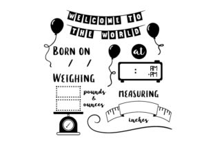 Baby Birth Announcement Template Baby Craft Cut File By Creative Fabrica Crafts 2