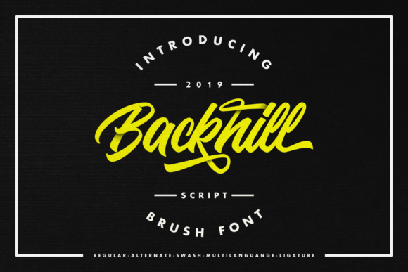 Print on Demand: Backhill Script & Handwritten Font By InspiraType