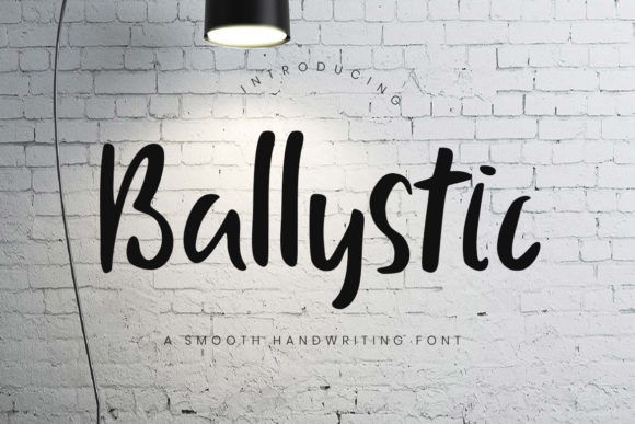 Print on Demand: Ballystic Script & Handwritten Font By CreatypeStudio