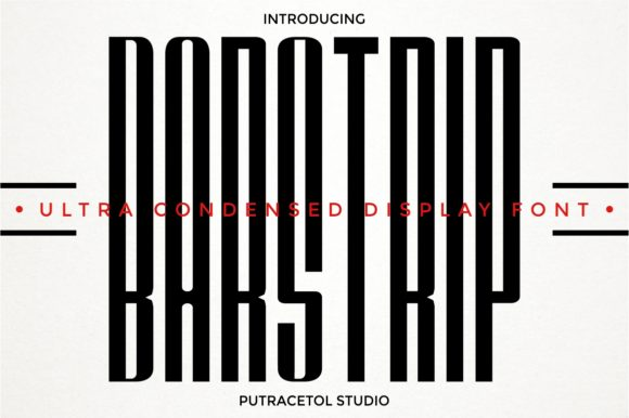 Print on Demand: Barstrip Display Font By putracetol