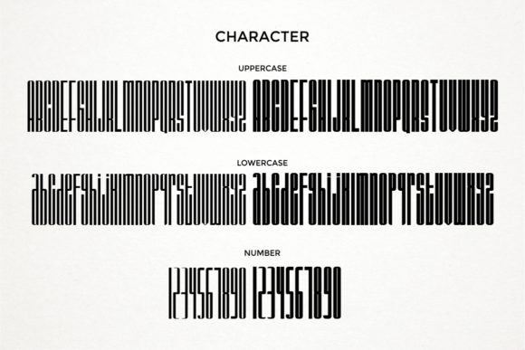 Print on Demand: Barstrip Display Font By putracetol - Image 9