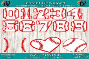 Print on Demand: Baseball Number Font Graphic Crafts By dynamicdimensions