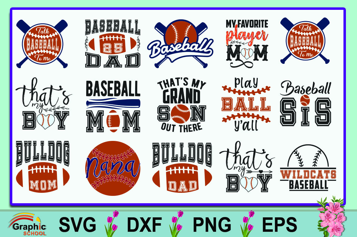 Download Free Baseball Quotes Bundle Graphic By Graphice School Creative Fabrica for Cricut Explore, Silhouette and other cutting machines.
