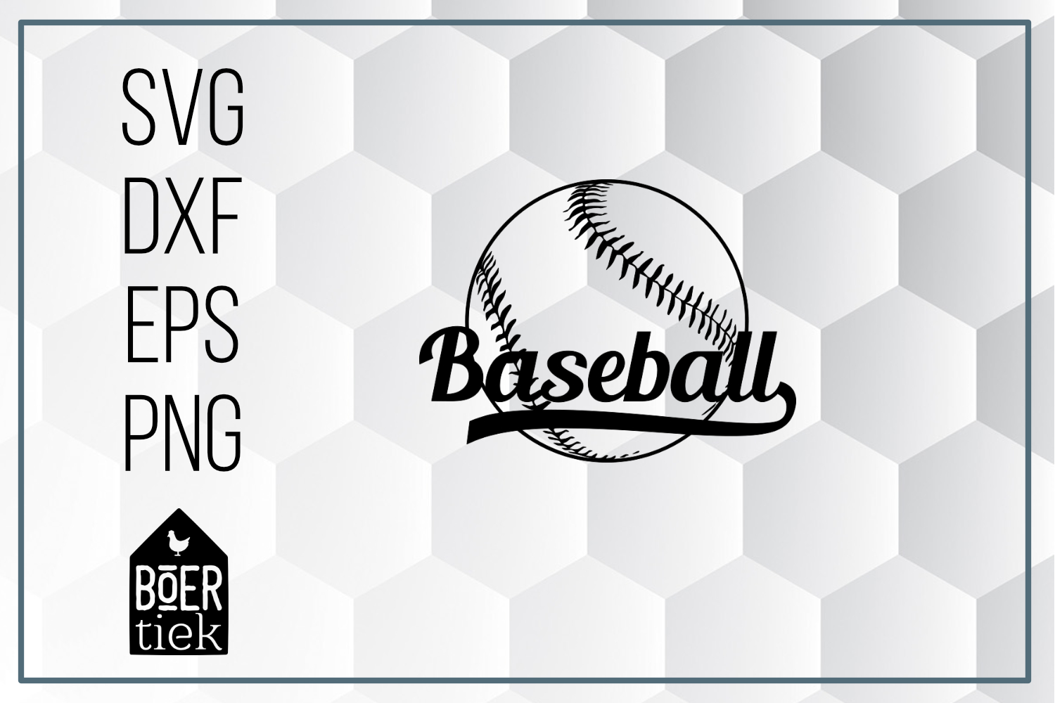Download Free Baseball With Word Graphic By Boertiek Creative Fabrica for Cricut Explore, Silhouette and other cutting machines.