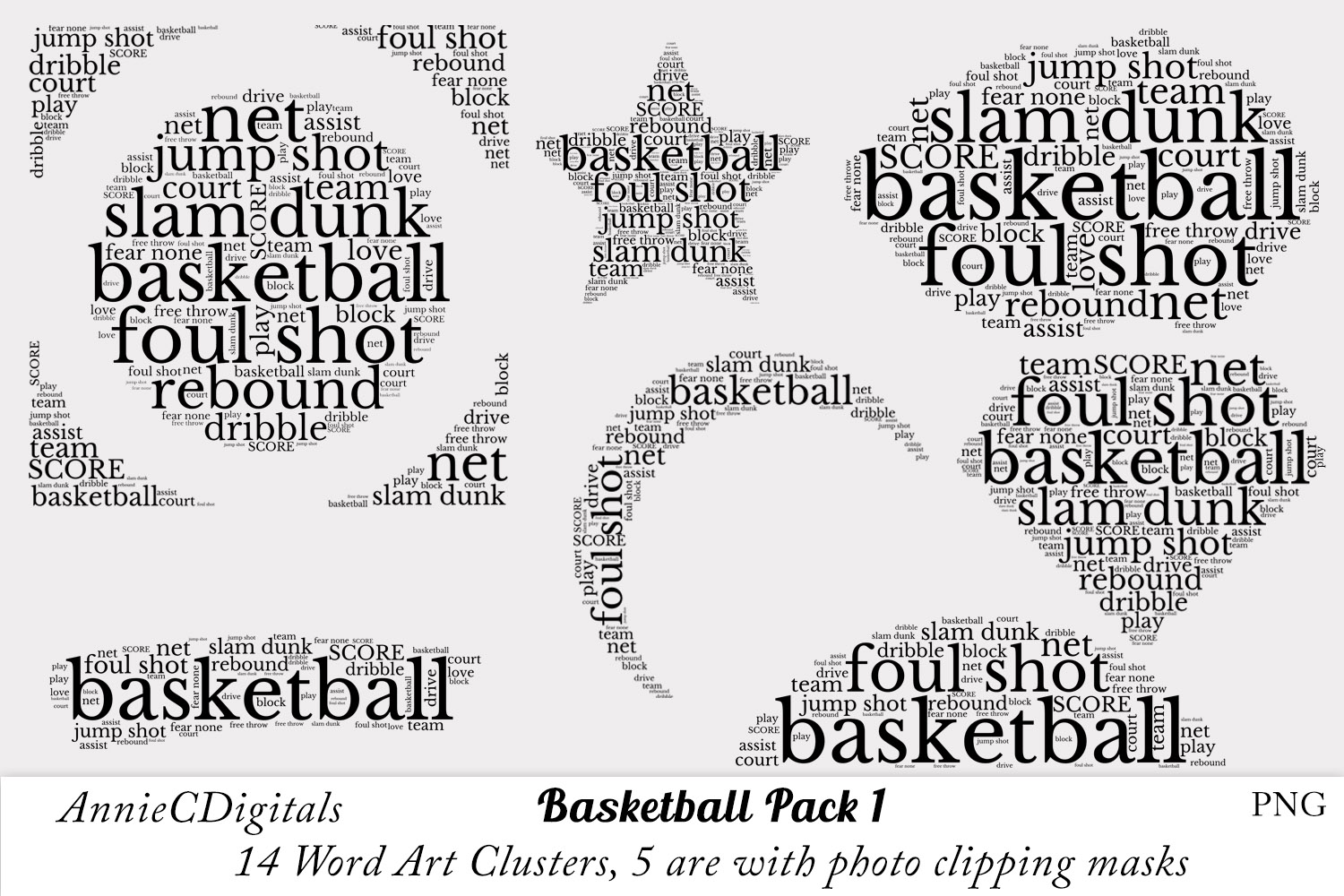 Download Free Basketball Word Art Graphic By Anniecdigitals Creative Fabrica for Cricut Explore, Silhouette and other cutting machines.