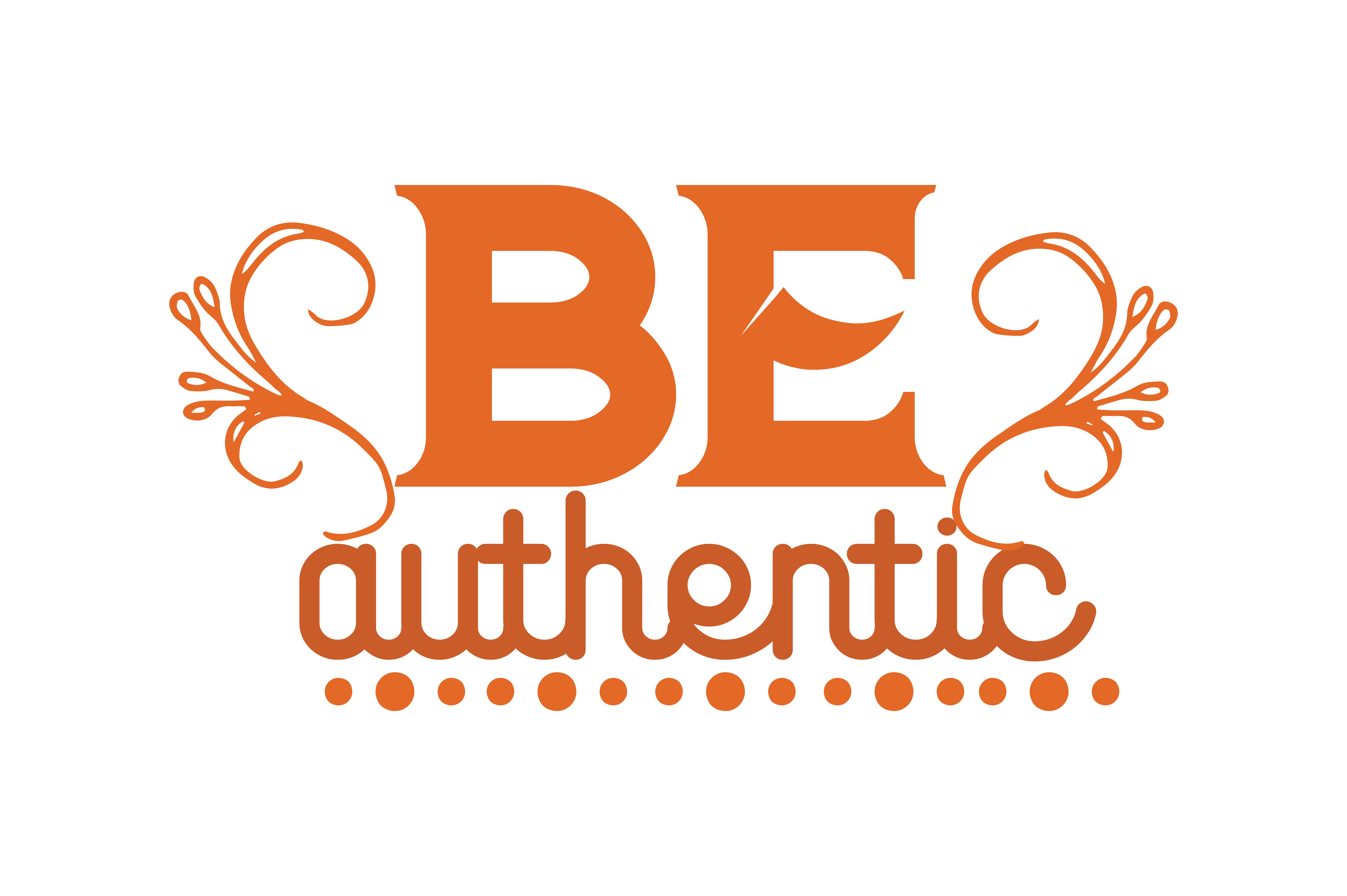 Download Free Be Authentic Quote Graphic By Thelucky Creative Fabrica for Cricut Explore, Silhouette and other cutting machines.