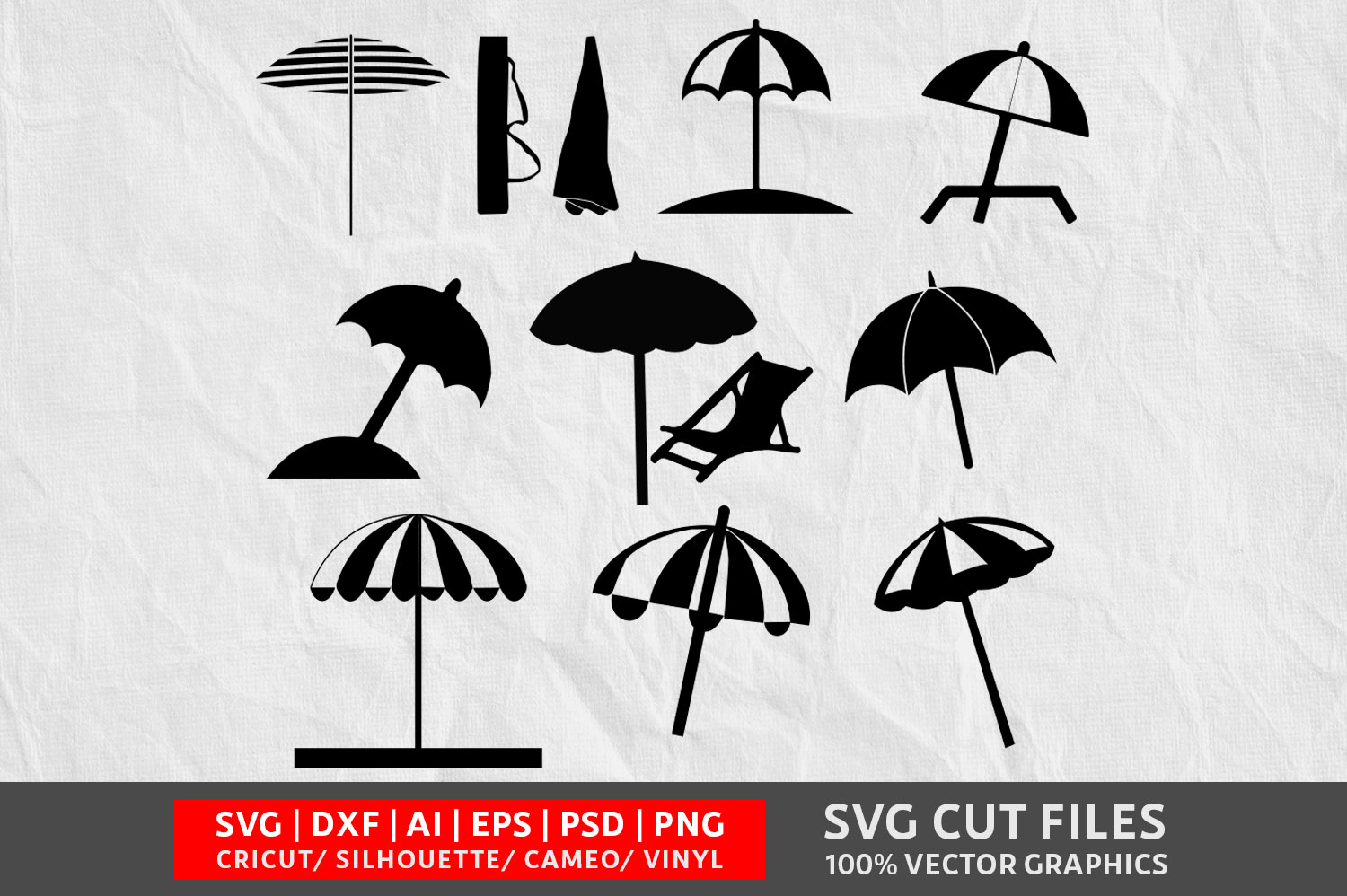 Download Free Beach Umbrella Graphic By Design Palace Creative Fabrica for Cricut Explore, Silhouette and other cutting machines.