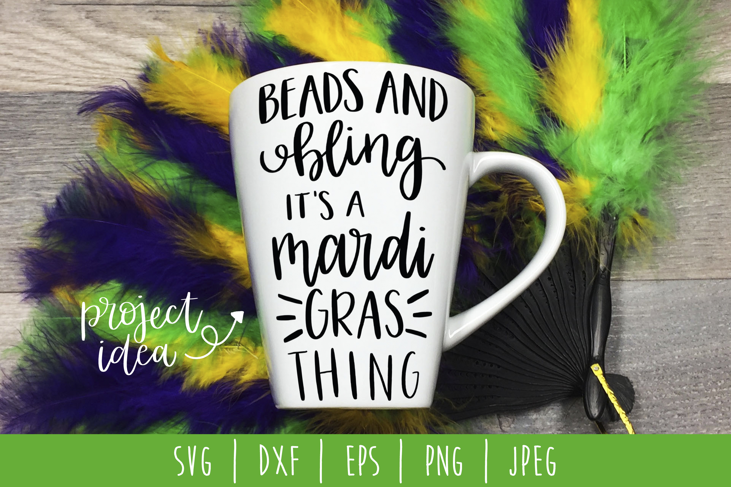 Download Free Beads And Bling It S A Mardi Gras Thing Svg Graphic By for Cricut Explore, Silhouette and other cutting machines.
