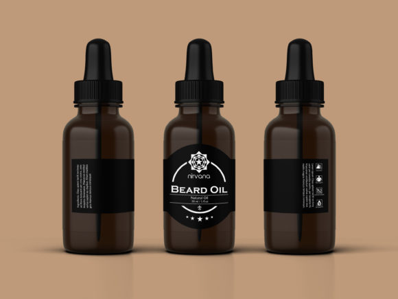 Download Free Beard Oil Label Templates Graphic By Creative Market Creative for Cricut Explore, Silhouette and other cutting machines.