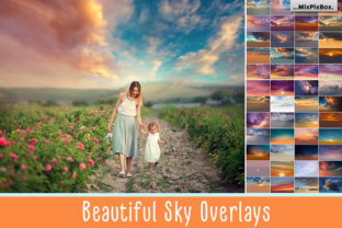 Print on Demand: Beautiful Sky Overlays Graphic Layer Styles By MixPixBox