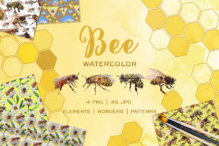 Bee Watercolor Png Graphic By MyStocks