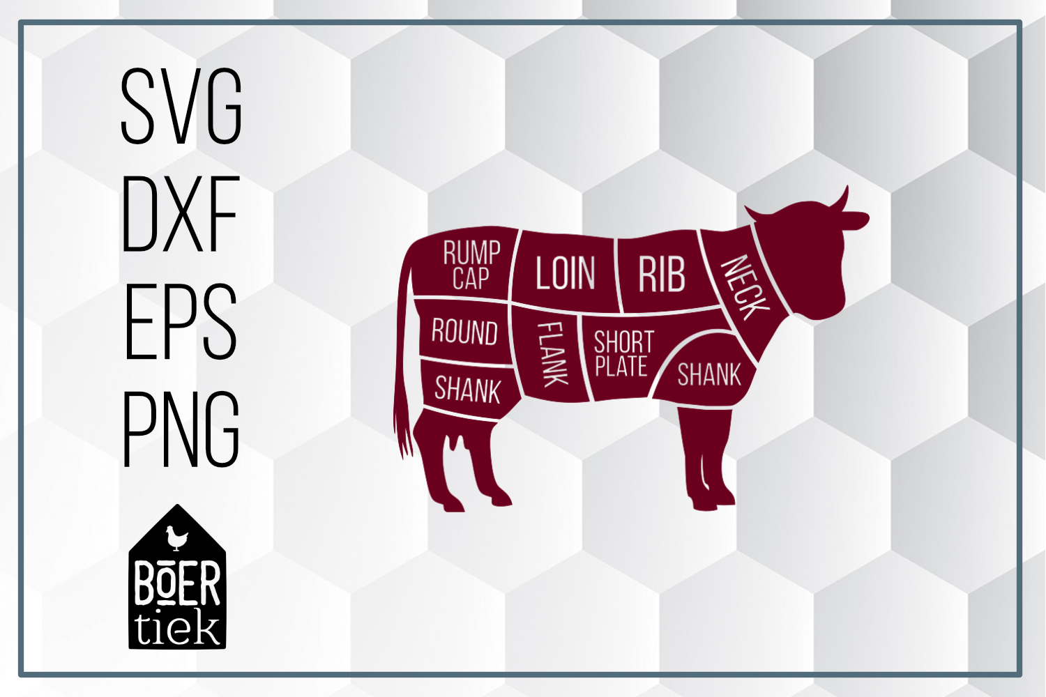 Download Free Beef Graphic By Boertiek Creative Fabrica for Cricut Explore, Silhouette and other cutting machines.
