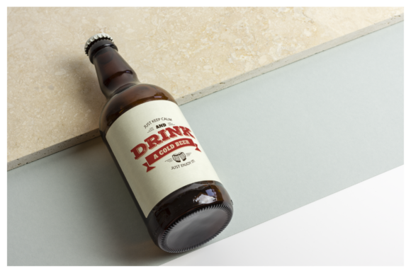 Beer Bottle Mockup / Real Scenes Graphic Product Mockups By dumitrasconiu.design - Image 4