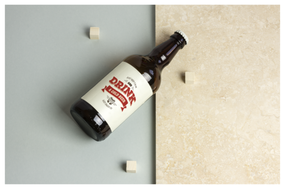Beer Bottle Mockup / Real Scenes Graphic Product Mockups By dumitrasconiu.design - Image 6