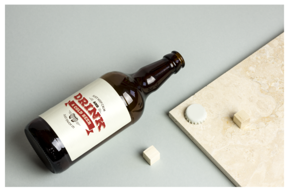 Beer Bottle Mockup / Real Scenes Graphic Product Mockups By dumitrasconiu.design - Image 1