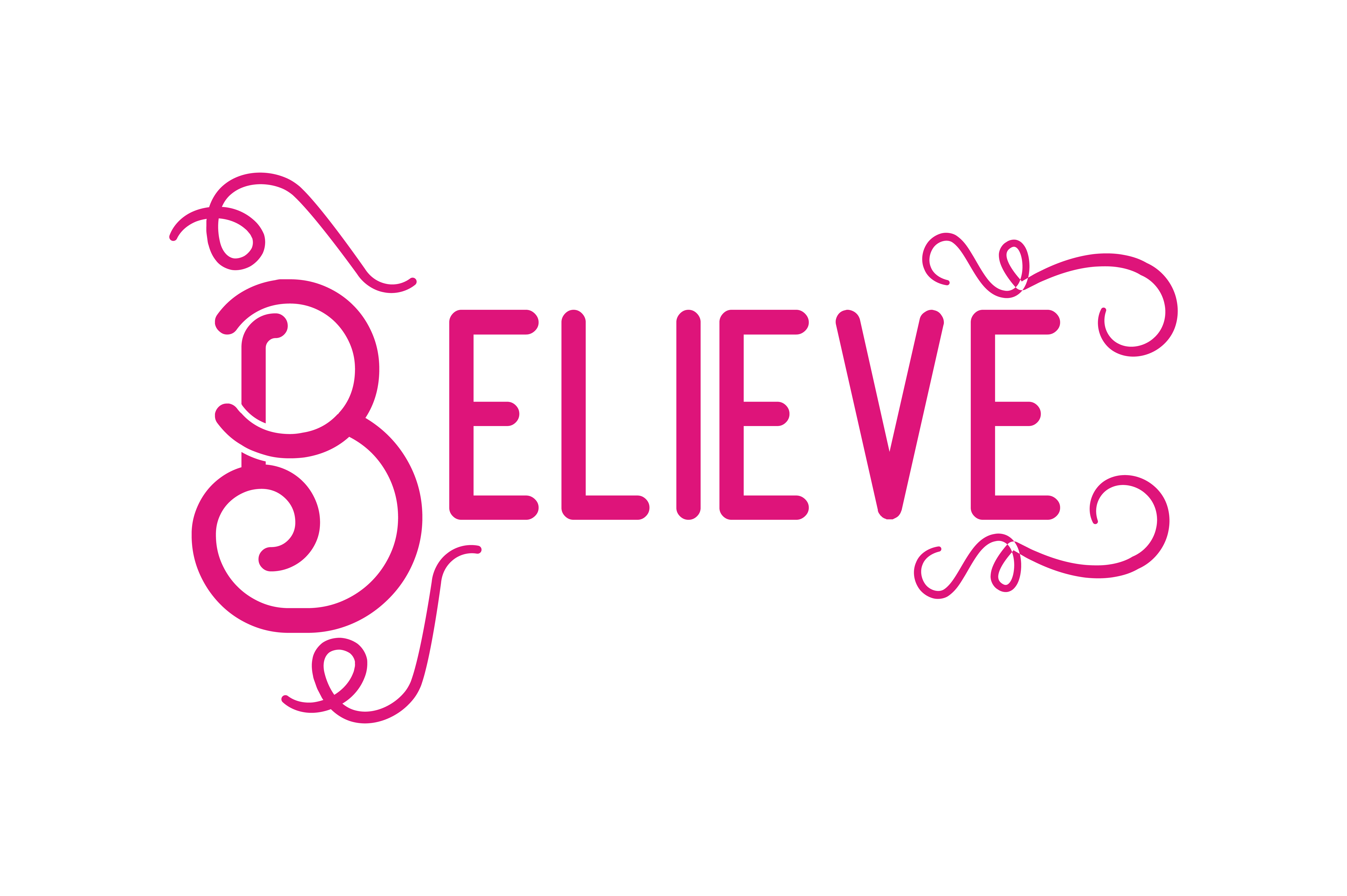 Download Free Believe Svg Cut Quote Graphic By Thelucky Creative Fabrica for Cricut Explore, Silhouette and other cutting machines.