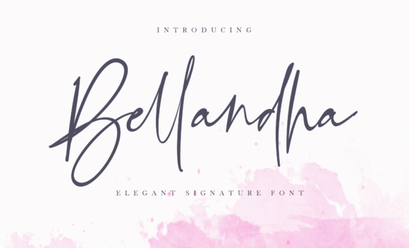 Print on Demand: Bellandha Script & Handwritten Font By silverdav - Image 1