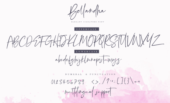 Print on Demand: Bellandha Script & Handwritten Font By silverdav - Image 2