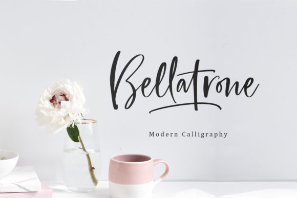 Print on Demand: Bellatrone Script & Handwritten Font By saridezra - Image 1