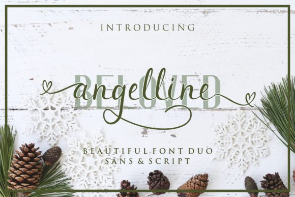 Print on Demand: Beloved Angeline Duo Script & Handwritten Font By MJB Letters