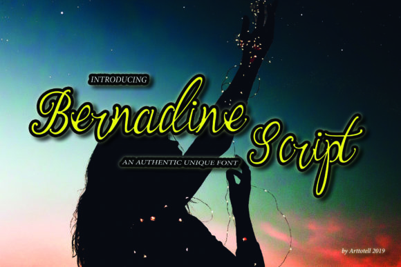Print on Demand: Bernadine Script Script & Handwritten Font By arttotell