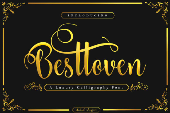 Print on Demand: Besttoven Script & Handwritten Font By Fahrul Anggoro