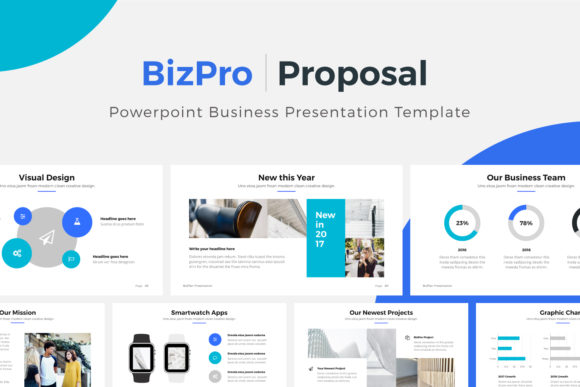 Print on Demand: BizPro PowerPoint Business Template Graphic Presentation Templates By pixasquare
