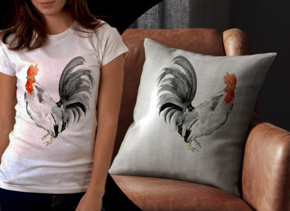 Black Tail Rooster Graphic Illustrations By Ambar Art - Image 2